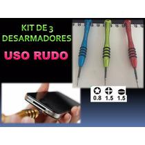 Kit 3 Desarmadores Iphone, Samsung, Uso Rudo Pentalobe Cyndy