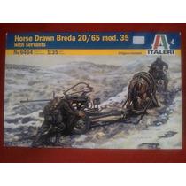 Horse Drawn Breda 20/65 Mod. 35 Italeri 1/35 Envío Gratis
