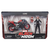 Figura Black Widow 6 Pulgadas Con Motocicleta Marvel Legends