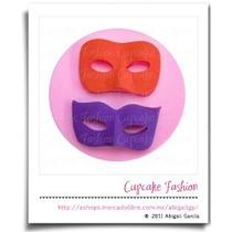 Molde Silicón Antifaz Máscara Fiesta Fondant Cupcake #1572