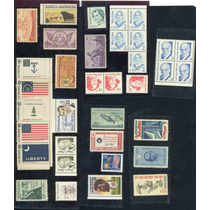 Eu8-lote De Sellos Nuevos De Estados Unidos-vv4