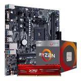 Kit Actualizacion Amd Ryzen 3 2200g Ram 8gb Gamer Vega 8