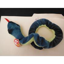 Peluche Ty Beanie Babies Serpiente Hissy Vibora Snake Toy