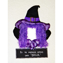 Halloween Sombrero Bruja Y Espejo Con Letrero Día De Muertos