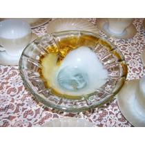 Bello Frutero O Centro De Mesa Vintage De Cristal Soplado