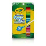 Plumones Crayola De 50 Colores Supertips Delgados Lavables