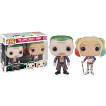 Funko Pop Set The Joker Harley Quinn Suicide Squad Metallic