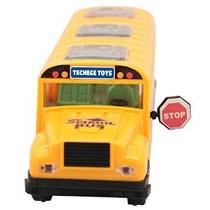 Techege Amarillo Brillante Juguete Del Autobús Escolar Emite