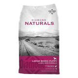 Alimento Diamond Naturals Large Breed Puppy Perro Cachorro Raza Grande Cordero/arroz 18.14kg