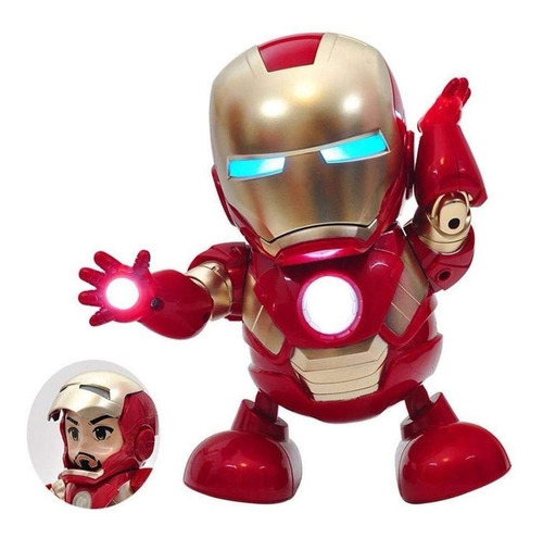 Iron Man Dance Hero Baile Robot Marvel Juguete Avengers