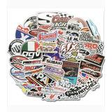 Racing Nascar 50 Calcomanias Stickers Pvc Anti Agua E Gratis