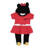 Mameluco Minnie Mouse Con Gorro Original Disfraz Disney 4610