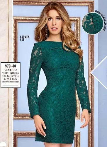 Vestido verde esmeralda venta