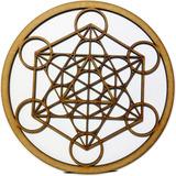 Cubo Metatron + Flor De La Vida 2 Piezas