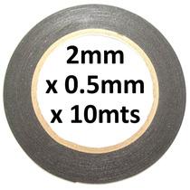 Cinta Adhesiva Doble Cara 2mm X 10m Espesor 0.5mm Negra !!
