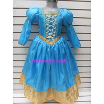 Vestido Disfraz Princesa Talla 8 Años Merida Valiente