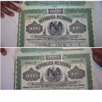 Bono De La Deuda Consolidada Exterior Mexicana Del Año 1899