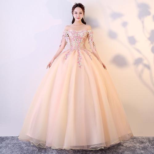 c5b793a82a Vestido Quinceañera Princesa Strapless Manga Flores Xv Años en venta ...