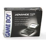 Game Boy Advance Sp Negro Una Luz Completo Con Caja