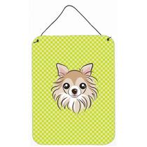 Tablero De Ajedrez Verde Lima Chihuahua Pared O Puerta Colga