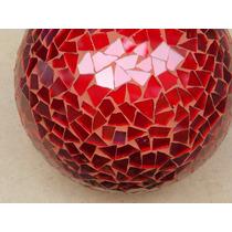 Juego De Esferas De Vitromosaico Rojas