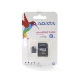 Memoria Micro Sdhc Adata 8gb Con Adaptador A Sd