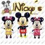 Paquete De 12 Globos Gigantes De Mickey O Minnie Mouse
