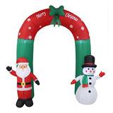 Hight - Arco Inflable Para Papá Noel Y Muñeco De Nieve (2,4