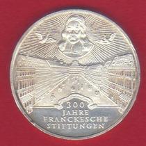 10 Marcos 1998 Plata Alemania 300 Años Fundación Franckesche