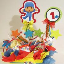 Centros De Mesa Infantiles Minions Elmo, Hello Kitty $150