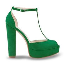Zapatos Sandalias Verdes Andrea 2335940 Tacòn 14cm