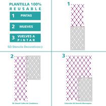 Stencil Casablanca Plantilla Decorativa Reusable Para Pintar