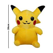 Pokemon Peluche 26 Cm Pikachu Pichu Ash Primera Generacion