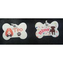 Placas De Identificacion Para Mascota, Sublimadas
