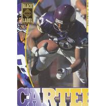 1995 Edge Black Label Cris Carter Wr Vikings