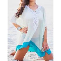 696cae1f7dff Salida De Playa Pareo Cerrado Mujer Blusa Vestido Elegante Liso ...