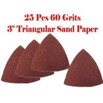 Pack De 25 De Lija 60 Sémola 3 Triangular Arena Papel W / V