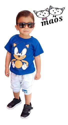 Jogger Y Playera Sonic #coordinado Niños #ropa Infantil