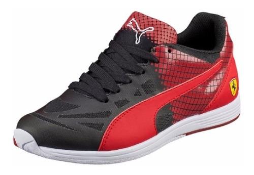 5a22f60661 Mujer Tenis Puma Evospeed Lace 1.4 Ferrari Negro Rojo Pel