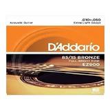 2 Juegos Cuerdas Guitarra Acústica Daddario Ez900 10-50 ´