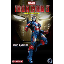 Iron Man 3 Iron Patriot Figura Escala 1/9 Model Kit-dragon