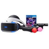 Playstation Vr Paquete Bundle Camara Move Ps4 Worlds