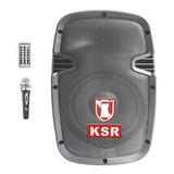 Bafle Recargable Bocina 8 Pulgadas Bluetooth Usb Ksr 7908bte