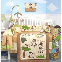 Soho Mono Curioso Cuna Nursery Bedding Set 13 Piezas Incluye