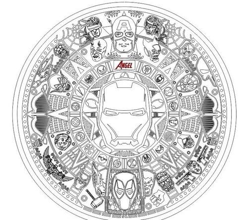 Calendario Azteca Vectores.Calendario Azteca Marvel Vector Cnc Grabado Laser Srgrfia