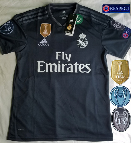 a4ac2fec4fbb4 Jersey Playera Real Madrid 2019 Negro Champions League.