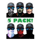 5 Pack Bandana - Tipo Buff, Mascara, Cacería, Moto, Pesca