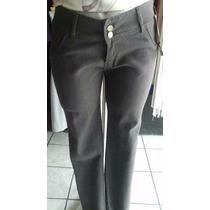 Pantalón Extra Jeans Mezclilla Gris Pedrería