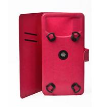 Funda Telefono Universal Flip Gancho 6 Rosa Colors Ginga