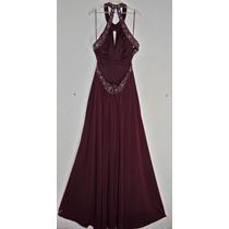 Vestido Nina Ferre Guinda Fiesta Gala Elegante Talla 7